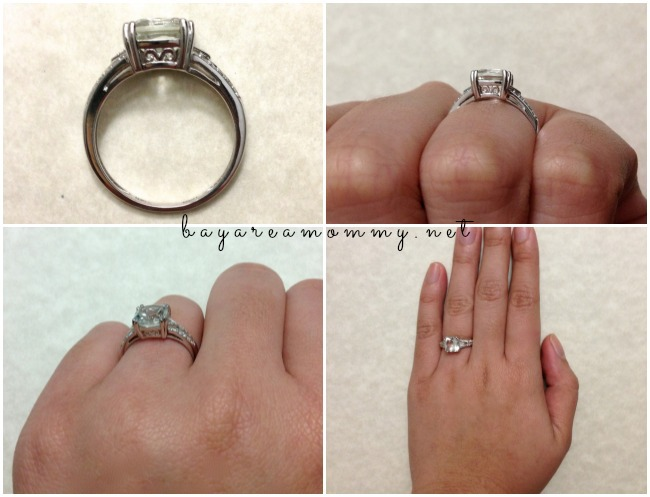 SuperJeweler Diamond & Green Amethyst Sterling Silver Ring