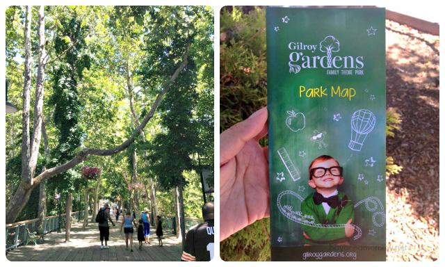 Gilroy Gardens Entrance and Park Map