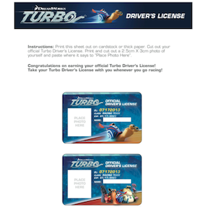 Turbo - Activity Sheets