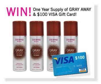 Gray Away Prize with Copy
