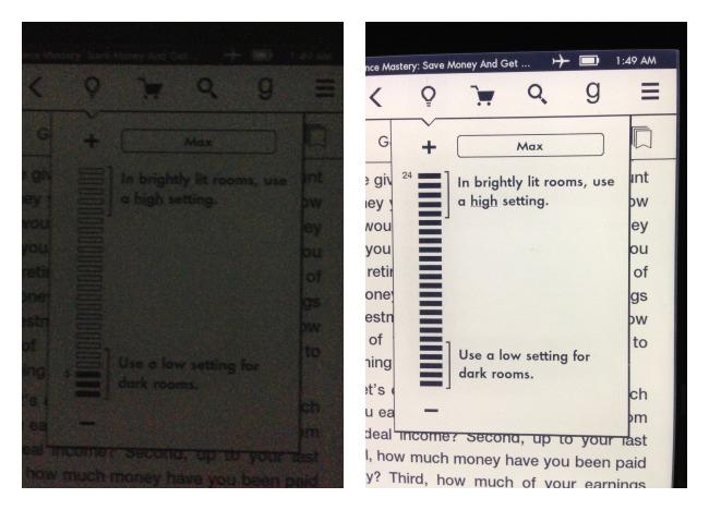 Amazon Kindle Paperwhite in the dark
