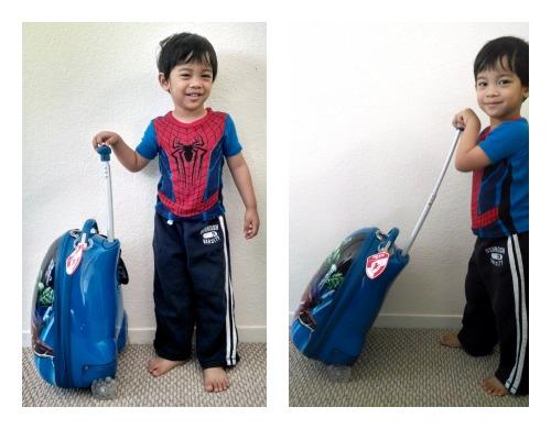 Marvel Avengers luggage w Sam