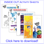 Download These INSIDE OUT Activity Sheets #InsideOut