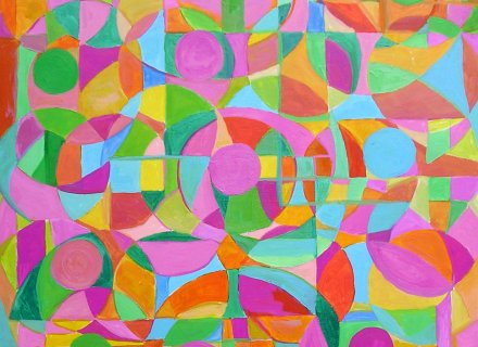 Circles and Squares in a Square