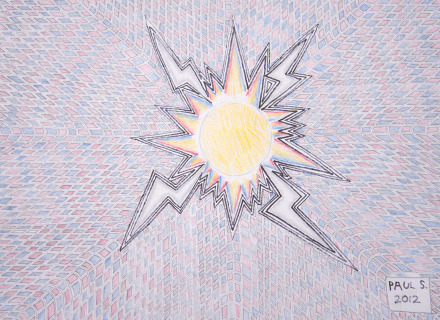 Electro Magnetic Field Diagram with Lightning Bolts #10