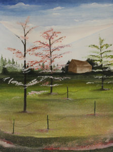 """Flowering Pink Trees"" JC"