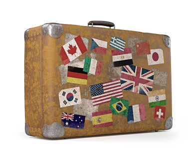 Old Traveled Bag. Clipping path included.