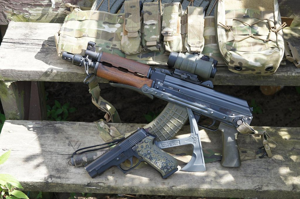 Very Cool M92 SBR with an Olive Drab First Generation Molot grip from us