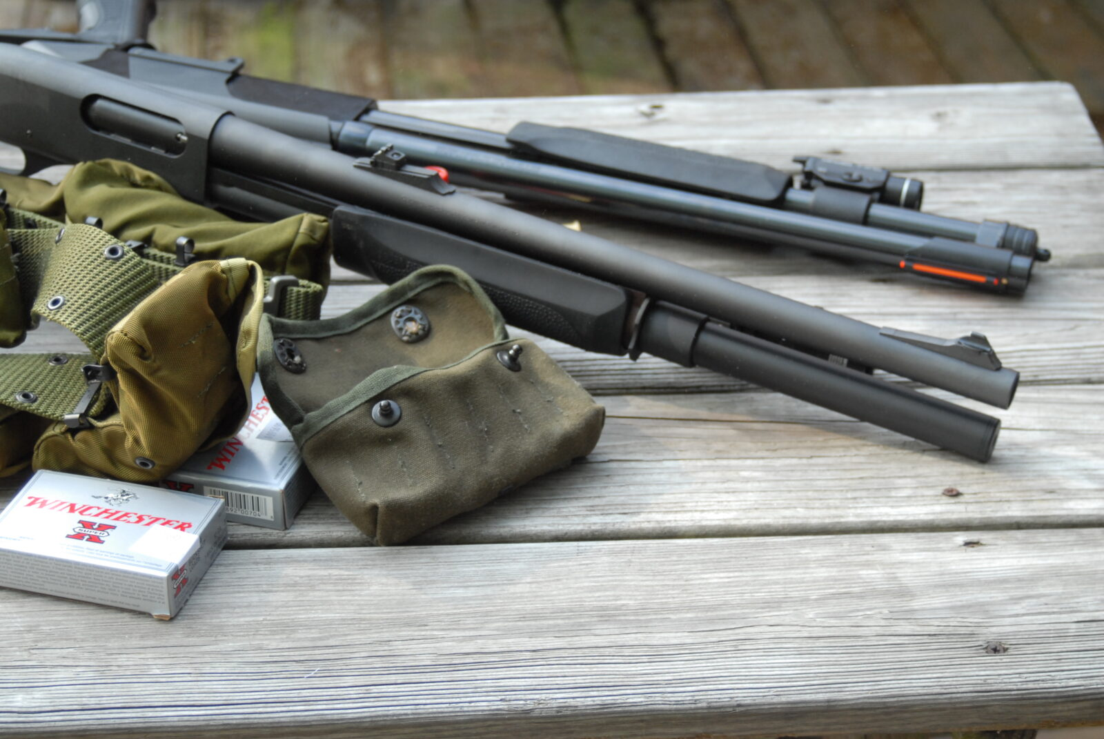 Remington 870 and Winchester 1200 Riot Shotguns
