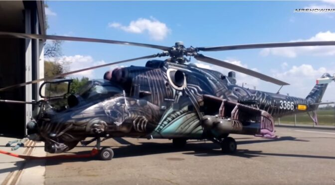 Video:  Birth Of the Alien Tiger Czech Hind Attack Helicopter