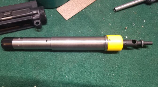 Building a 12.7×42 (.50 Beowulf) 7.5″ Pistol – The Wulferine:  Post 3 – Handguard, Gas Tube & Brake