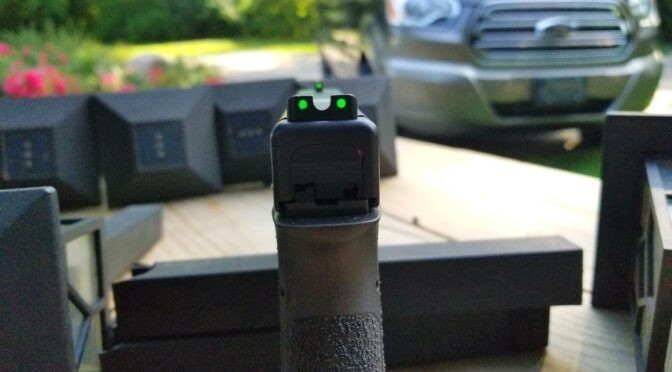 What are the best affordable tritium and fiber optic sights for Polymer80 and Glock pistols?