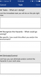 Task Safety Awareness
