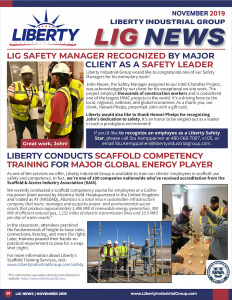 Our monthly newsletter highlights safety topics in industrial scaffolding