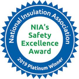 NIA Platinum Safety Award Winner