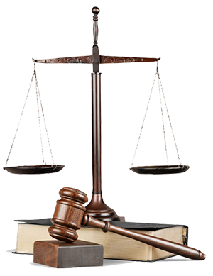 gavel books scale of justice concept