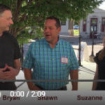 Bryan Schroeder and Suzanne Hunn interviewing a hard money lending client about his fix and flip deal