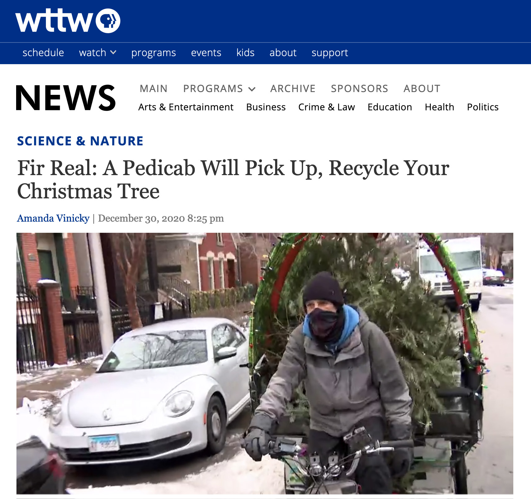 Fir Real: A Pedicab Will Pick Up, Recycle Your Christmas Tree