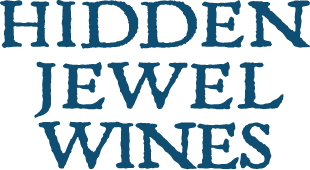 blue logo hidden jewel wines transparent background