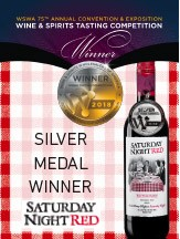 red checkered poster silver medal winner saturday night red