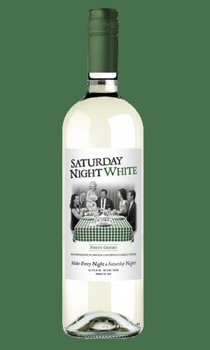 white and green bottle saturday night white
