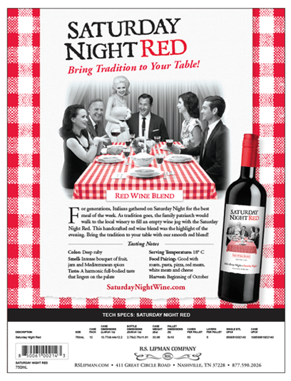 red checkered sales sheet saturday night red