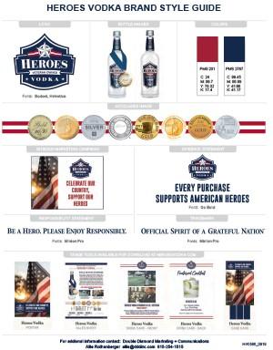 Heroes Vodka Brand Style Guide Brand Standards Veteran Owned
