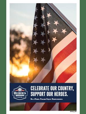 american flag poster image of heroes vodka