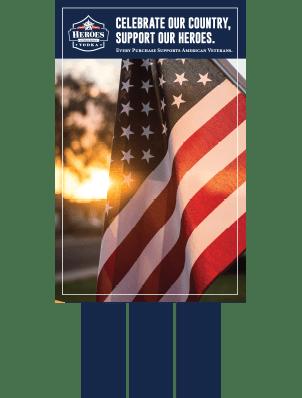 american flag case card image of heroes vodka