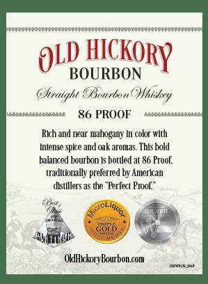 white bottle logo old hickory straight bourbon whiskey