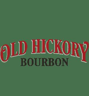 red and black old hickory bourbon logo transparent background