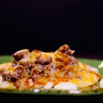 Enchilada with cheese melted