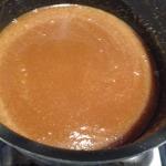 Stir salted caramel until smooth