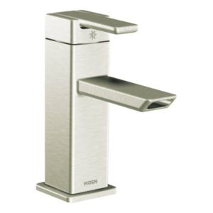 90 Degree One Handle Low Arc Bathroom Faucet