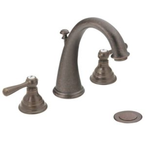 Kingsley Two Handle High Arc Bathroom Faucet
