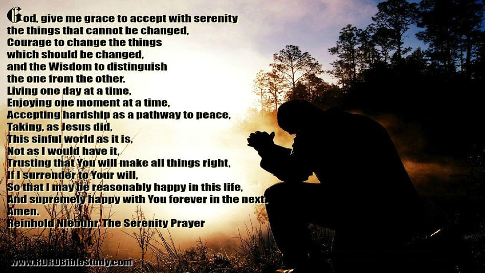 Harps On Willows The Serenity Prayer Reinhold Niebuhr