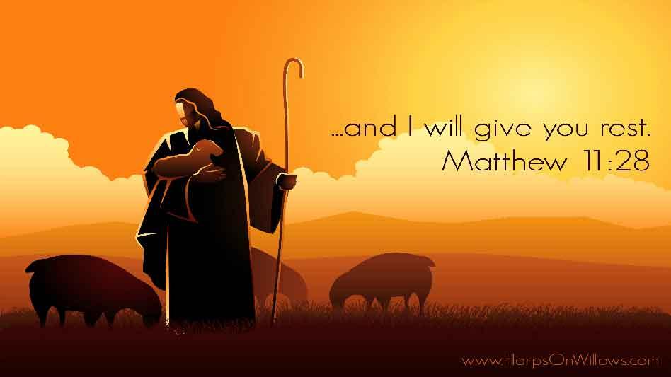 Harps On Willows Matthew 11 28