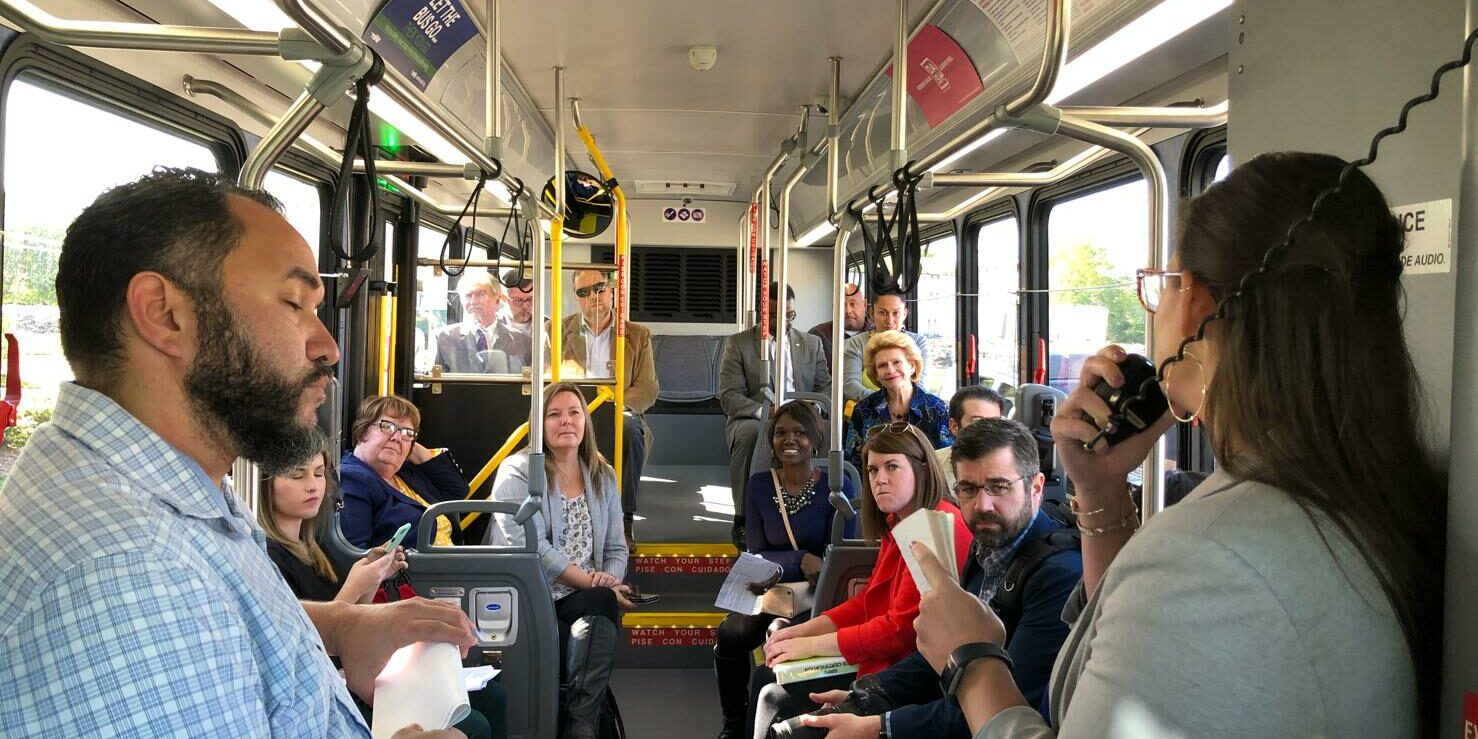 Senator Stabenow Bus Tour of Sustainable Projects & Green Infrastructure in Grand Rapids