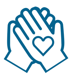 Hands with heart symbolizing Quality for the Delta Healthcare Foundation