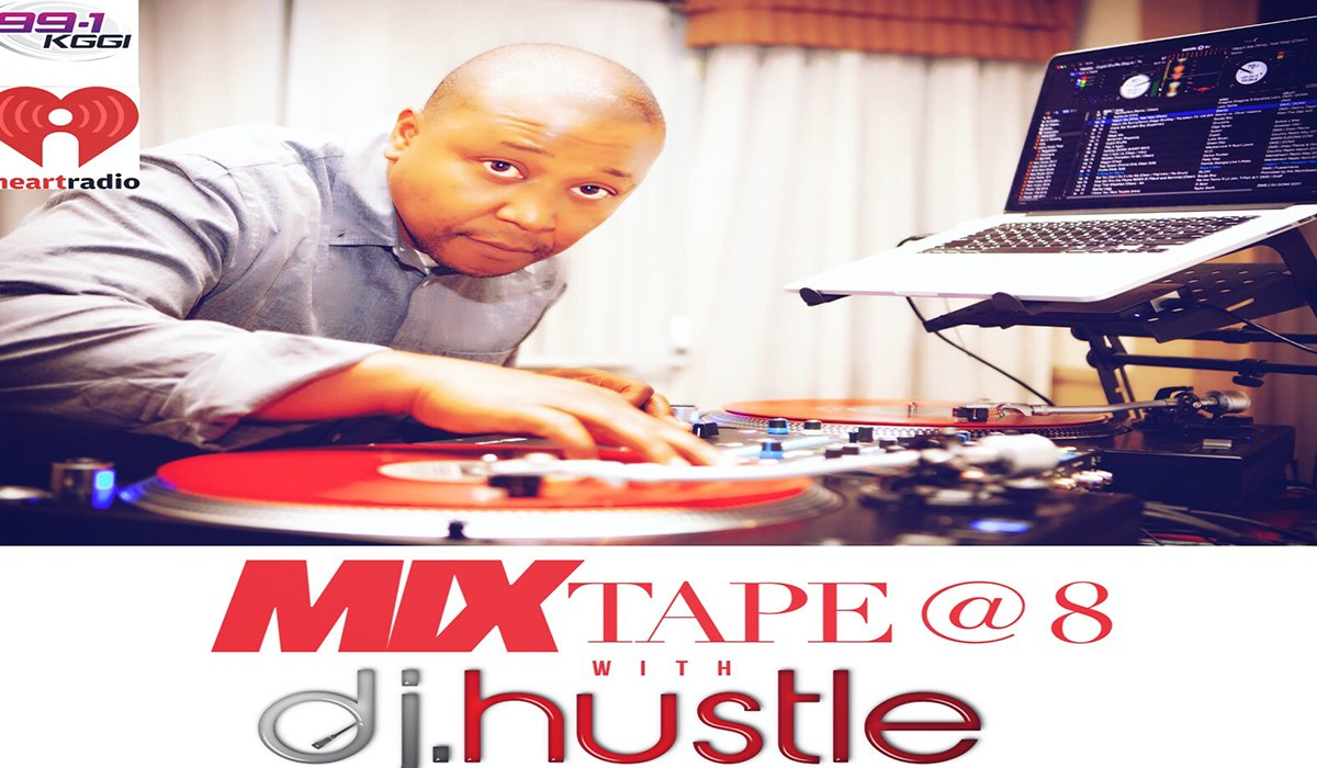 DJ Hustle Takes Over 99.1 KGGI IHeartRadio Live In The Mix www.HustleTV.tv DJ