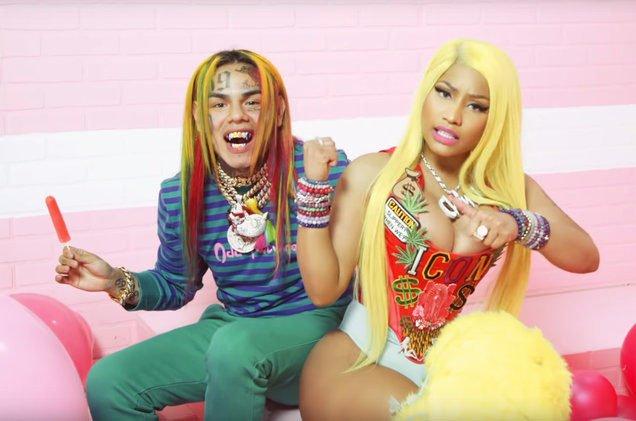 HustleTv.tv-6ix9ine-Nicki-Minaj-Shares-Candy-Land-Themed -Video-FEFE