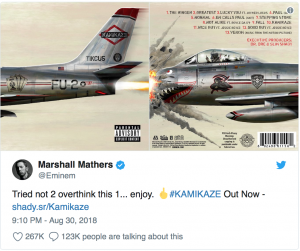 HustleTV.tv-'Kamikaze' Eminem Drops New Album Surprising The Music Industry