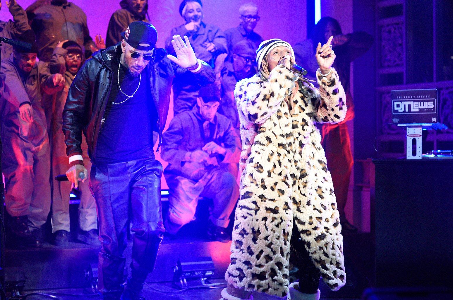 HustleTV.tv- Lil Wayne Swizz Beatz And Halsey Performs Can't Be Broken And Uproar On SNL DJ Hustle