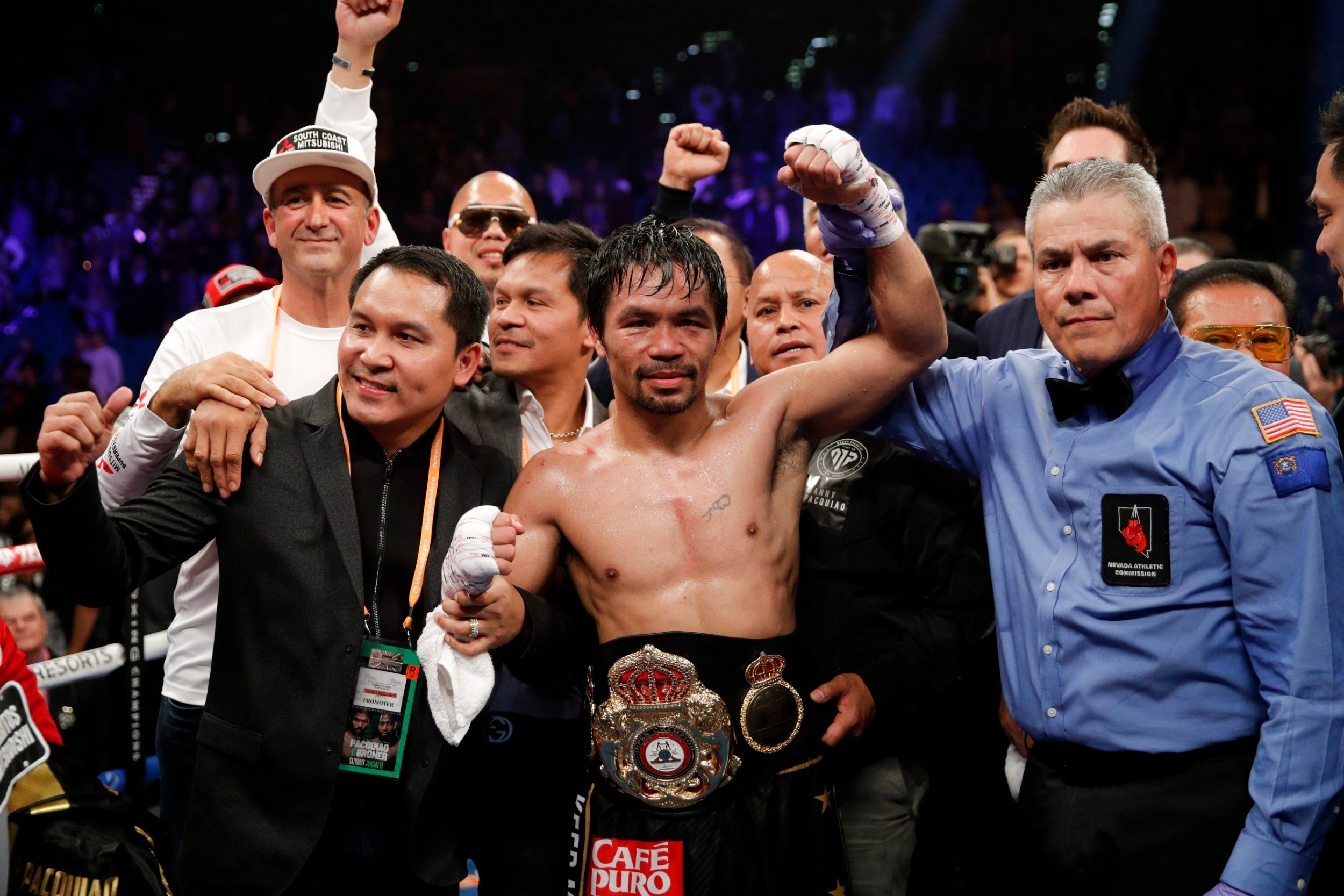 HustleTV.tv Manny Pacquiao Win Over Adrien Broner DJ Hustle