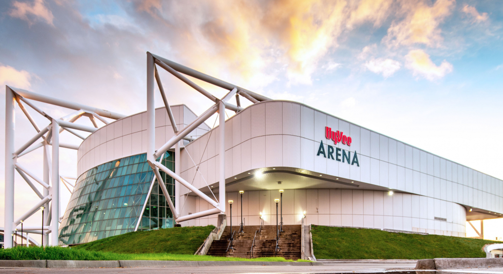 Exterior image of Hy-Vee Arena