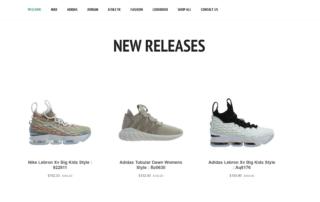 Online sneaker distributor hires RUBI Digital for web design in Philadelphia for drop shipping online sneaker brand