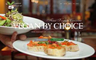 Vegan restaurant company hires RUBI Digital for web design in Philadelphia to improve web design for orders and food delivery