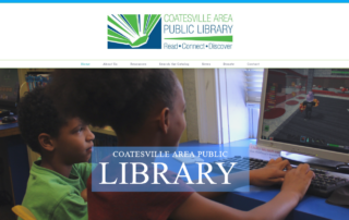 Local Coatesville Library hires RUBI Digital for web design in Philadelphia to reach visitors in Coatesville, Chester County