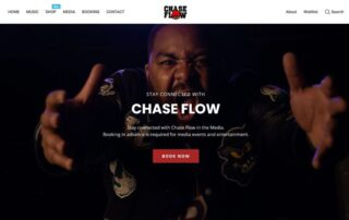 """RUBI Digital performs remote web design for hip hop artist and brand """"Chase Flow"""" in Los Angeles, California"""