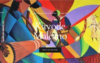 "Kayode Malomo hires RUBI Digital for web design in Philadelphia ""Joyful Art"" website"